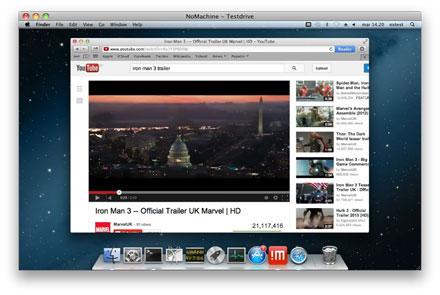 Screenshot von NoMachine für Mac