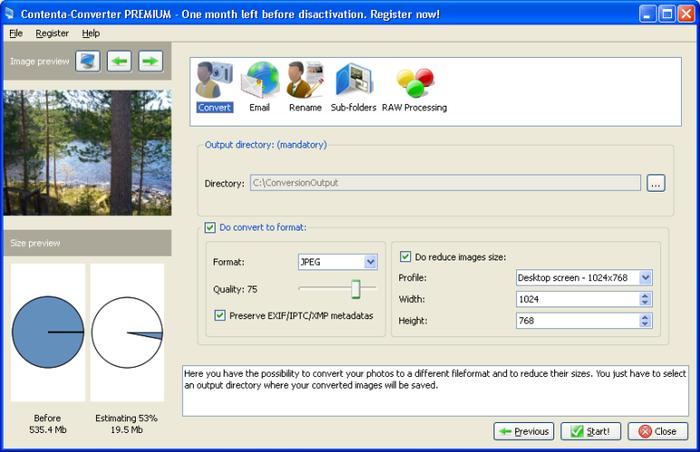 Screenshot af Contenta Converter Basic