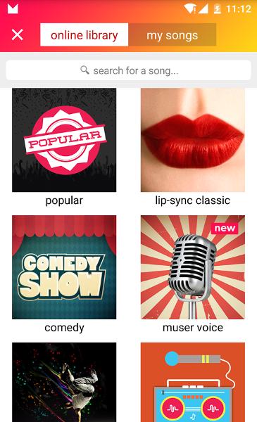 Screenshot von Musical.ly