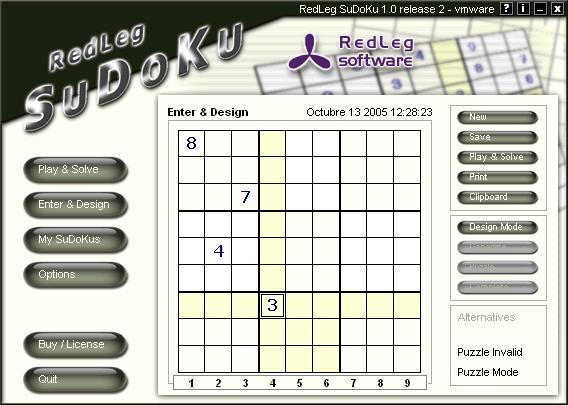 Screenshot af Redleg Sudoku Player