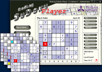 Screenshot von Redleg Sudoku Player