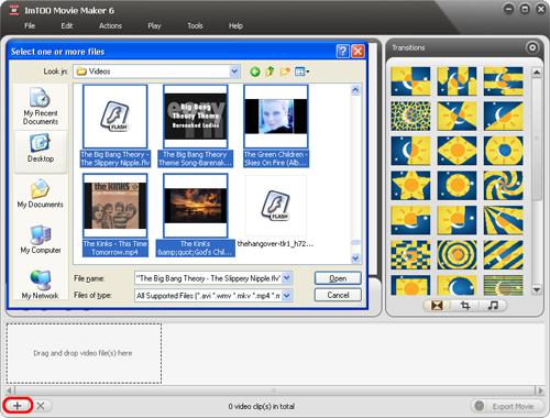 Screenshot af ImTOO Movie Maker für Mac
