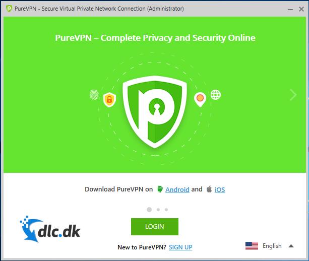 Screenshot af PureVPN