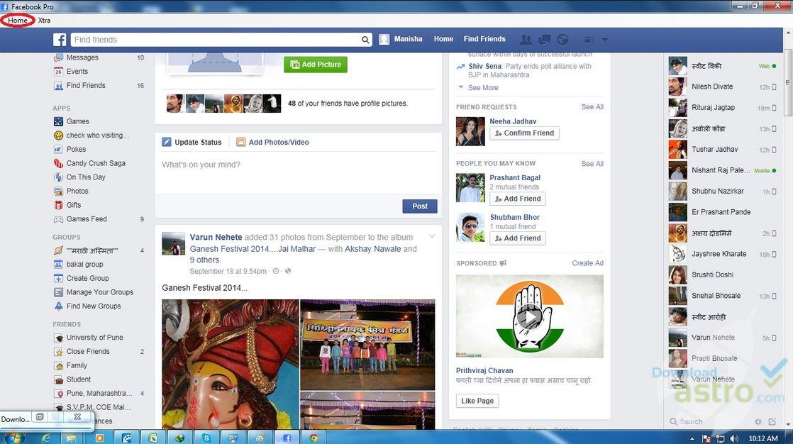 Screenshot af Facebook Pro