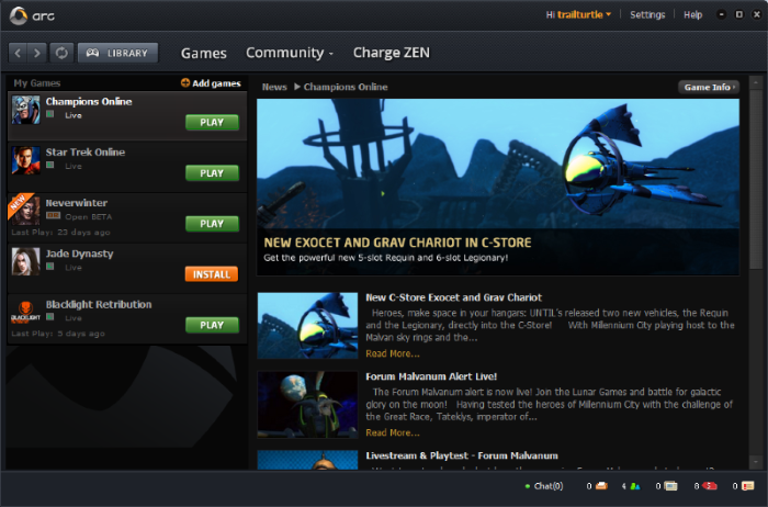 Screenshot af Arc