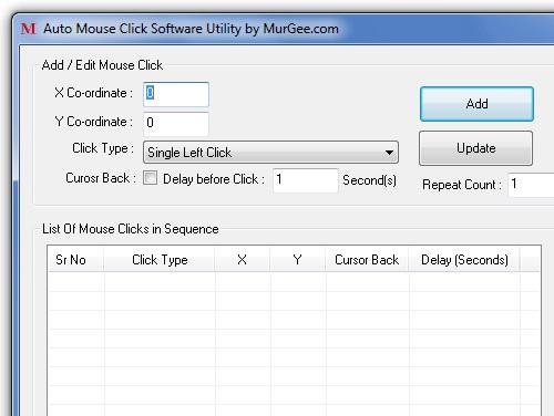 Screenshot af Auto Mouse Clicker