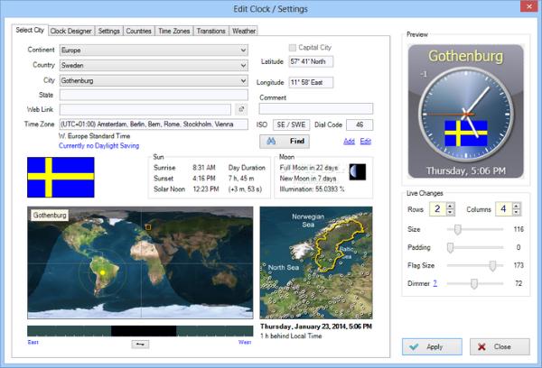 Screenshot af Sharp World Clock