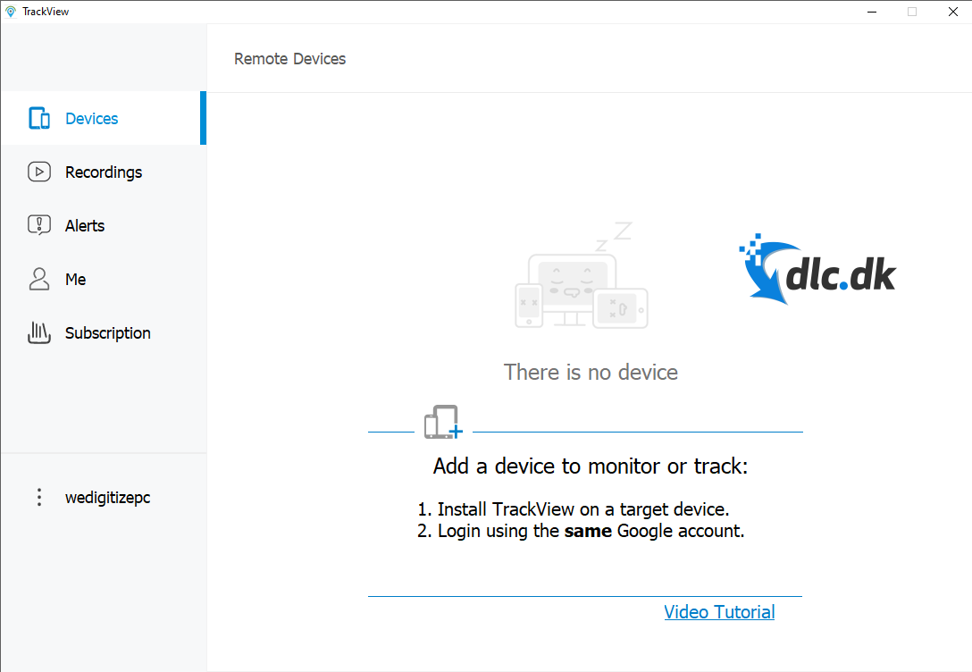 Screenshot af TrackView
