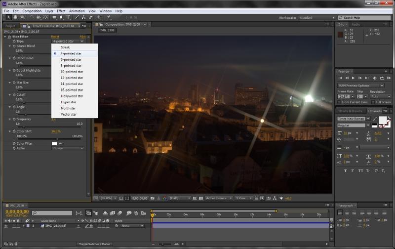 Screenshot af Adobe After Effects