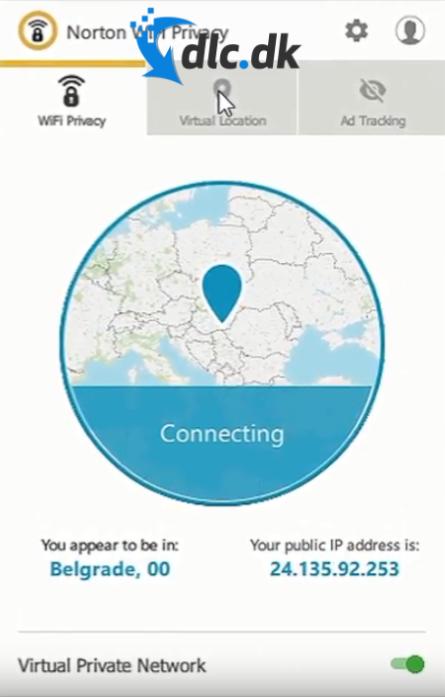 Screenshot af Norton Secure VPN