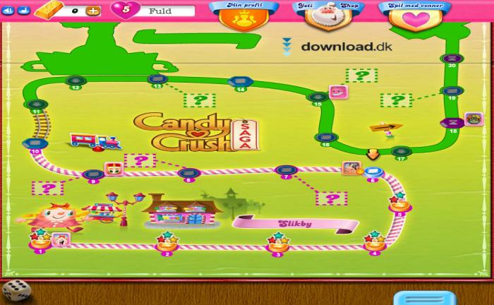 Screenshot af Candy Crush Saga