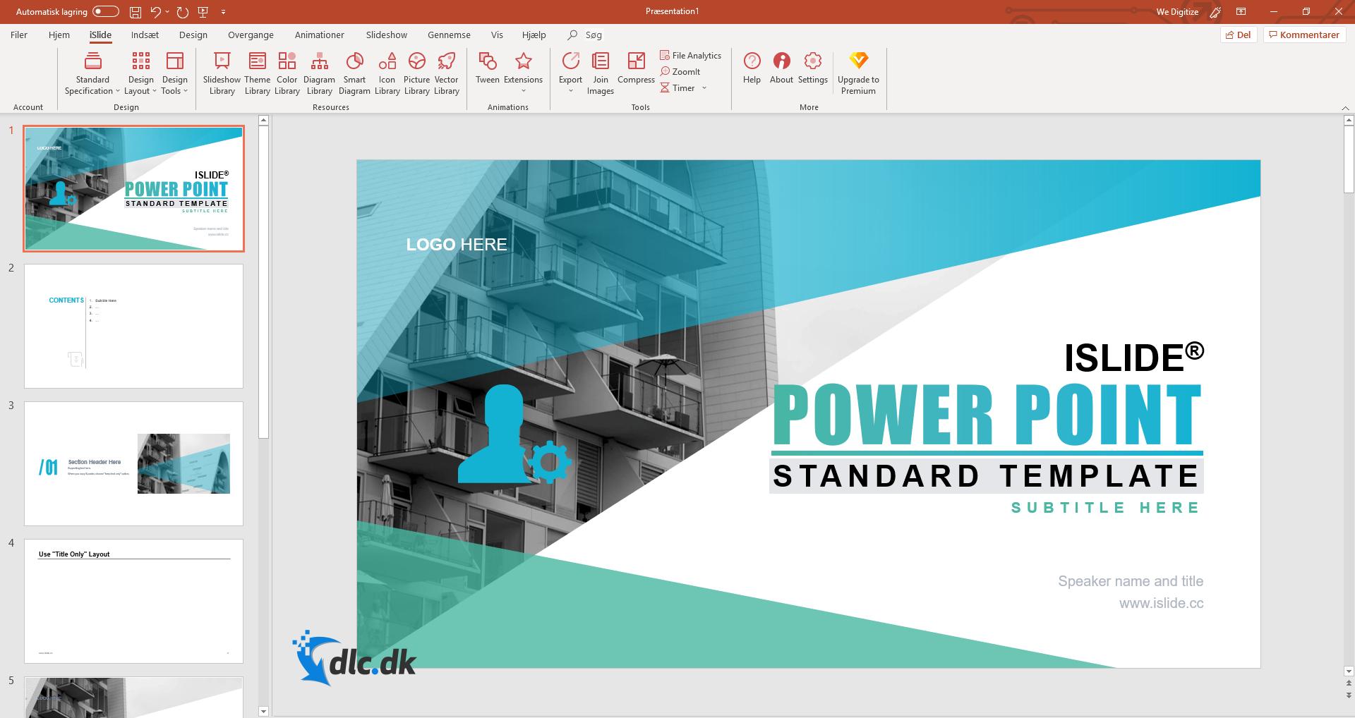 Screenshot af iSlide-Tools