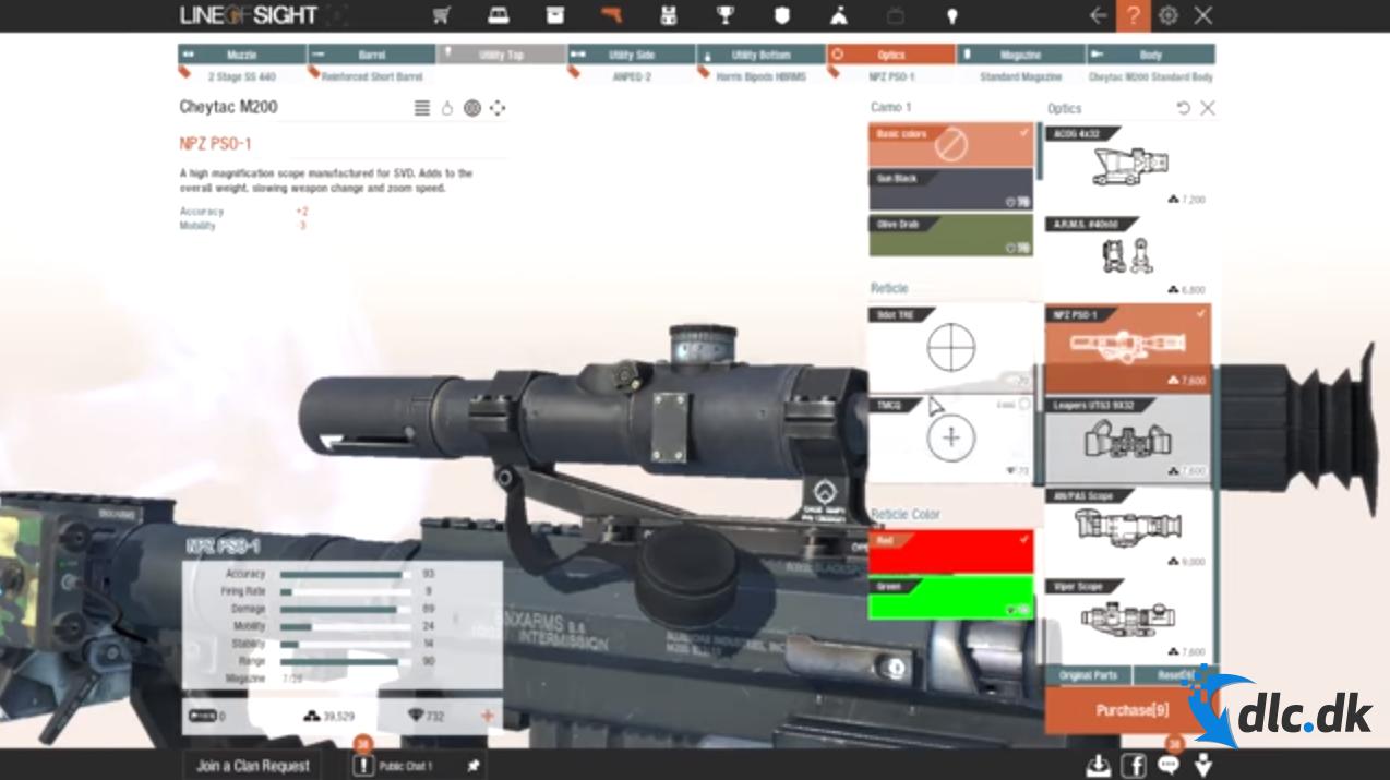 Screenshot af Sichtlinie