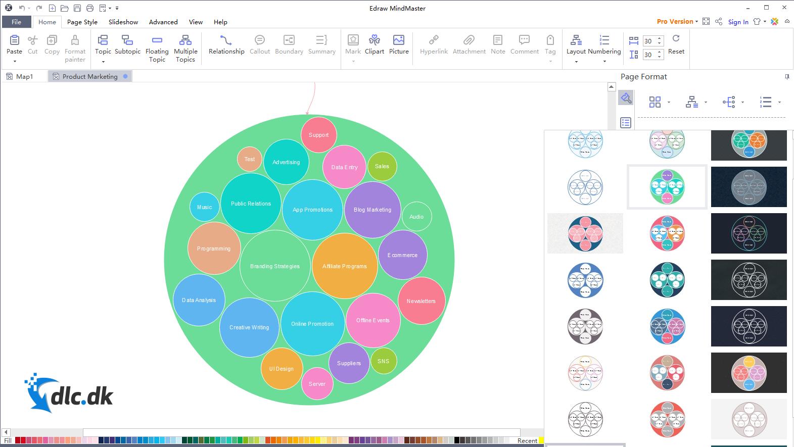 Screenshot af Edraw MindMaster