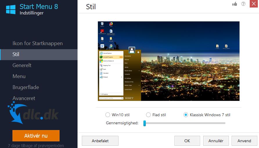 Screenshot af Startmenü 8