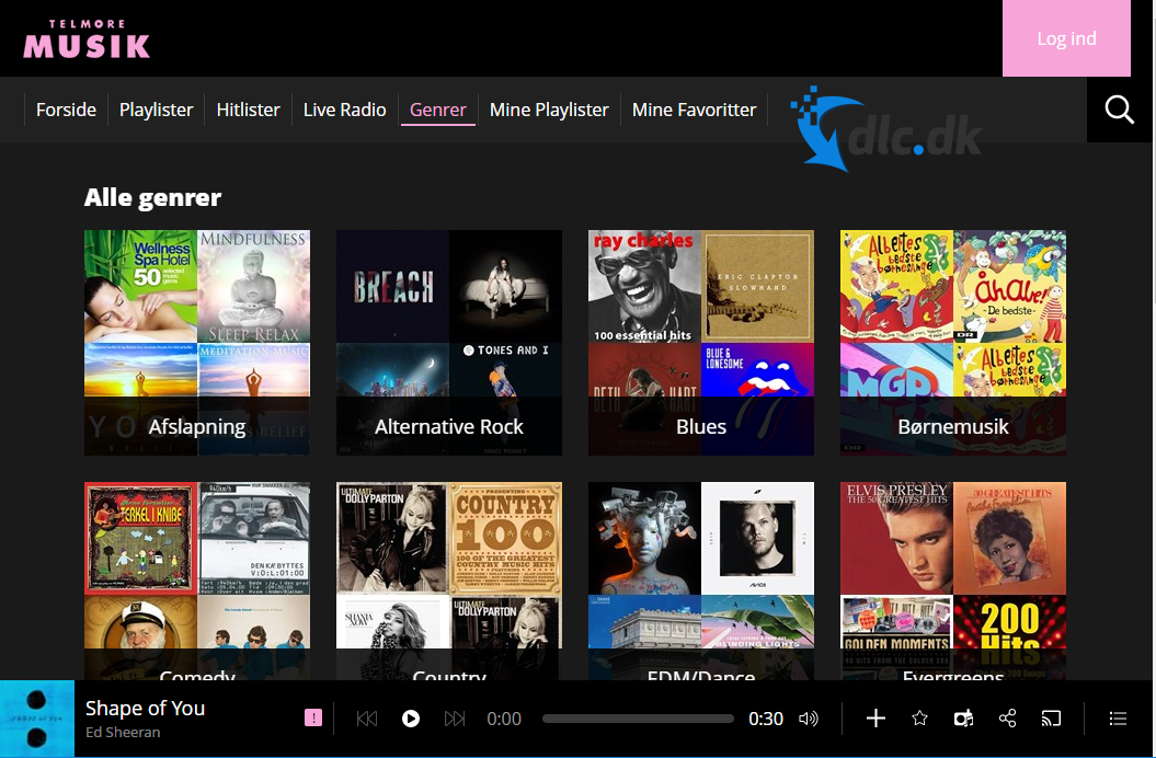 Screenshot af Telmore Music