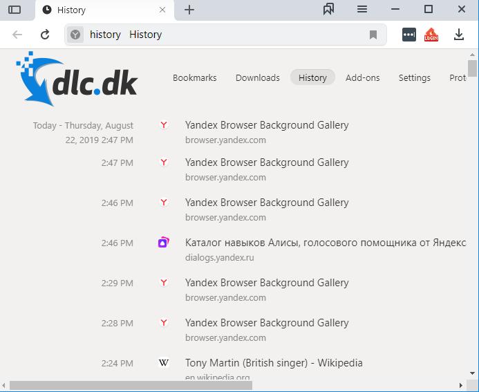 Screenshot af Yandex-Browser