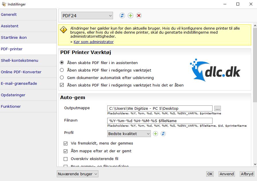 Screenshot af PDF24 Creator