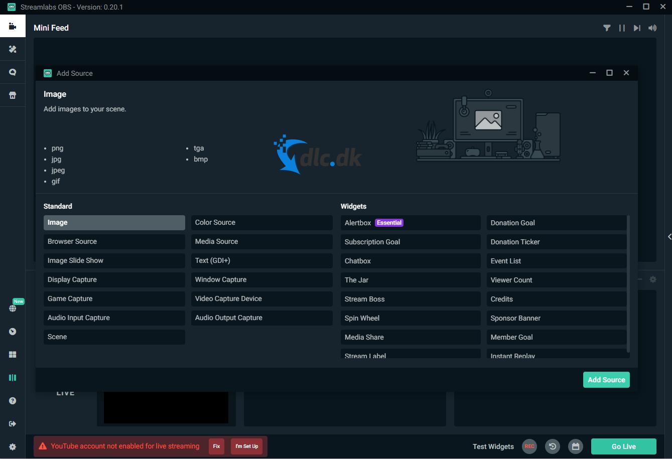 Screenshot af Stream Labs
