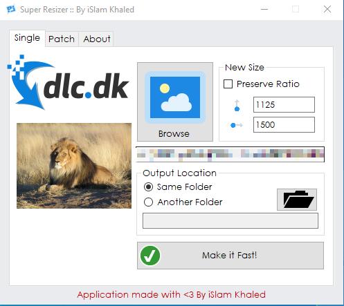 Screenshot af Super Resizer