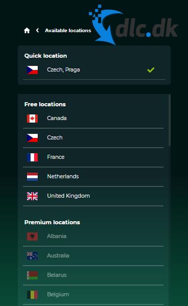 Screenshot af RusVPN