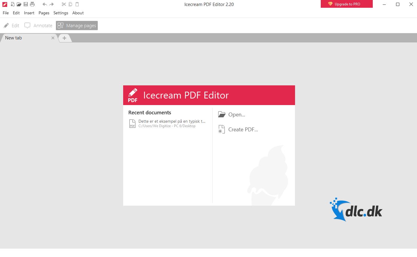 Screenshot af Icecream PDF Editor