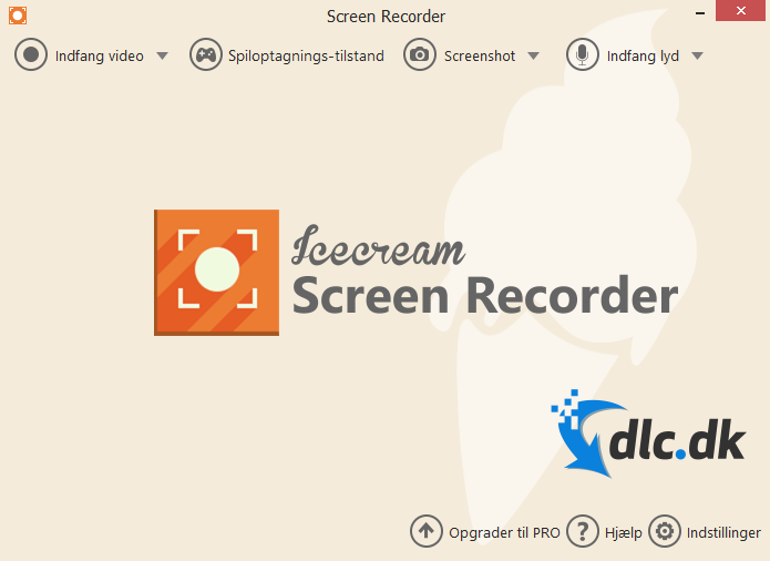 Screenshot af Icecream Screen Recorder (Englisch)