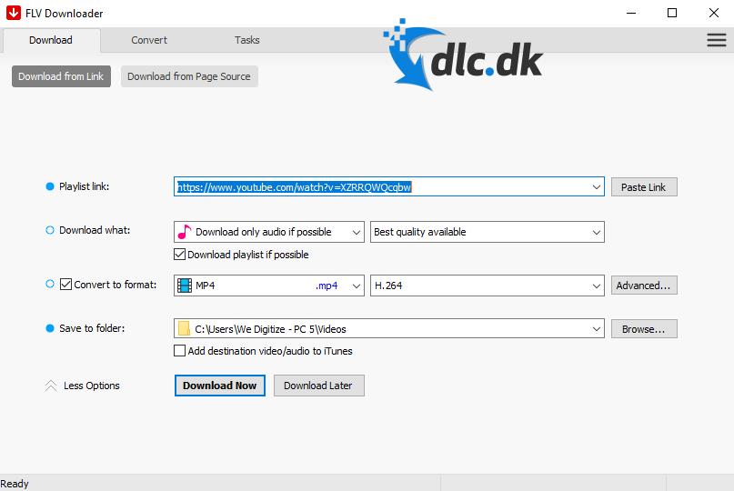 Screenshot af FLV Player