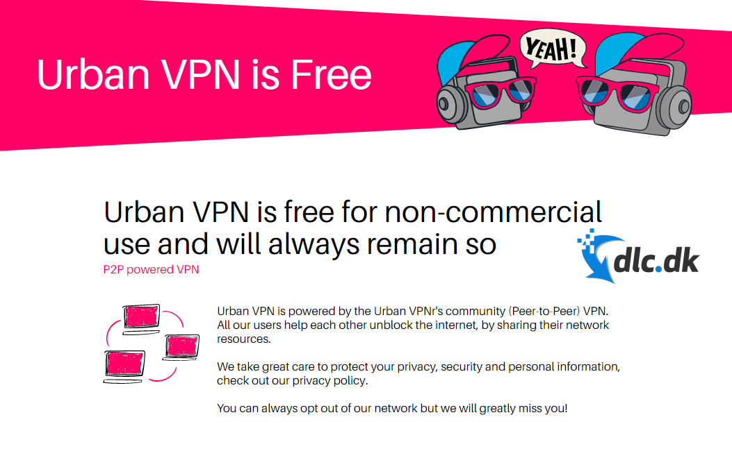 Screenshot af UrbanVPN
