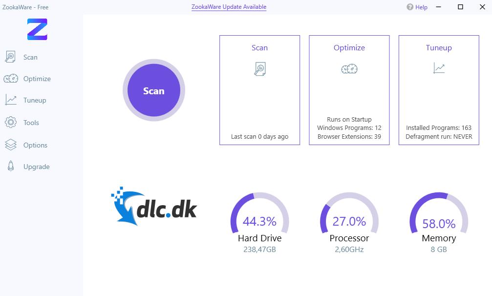 Screenshot af ZookaWare Kostenlos