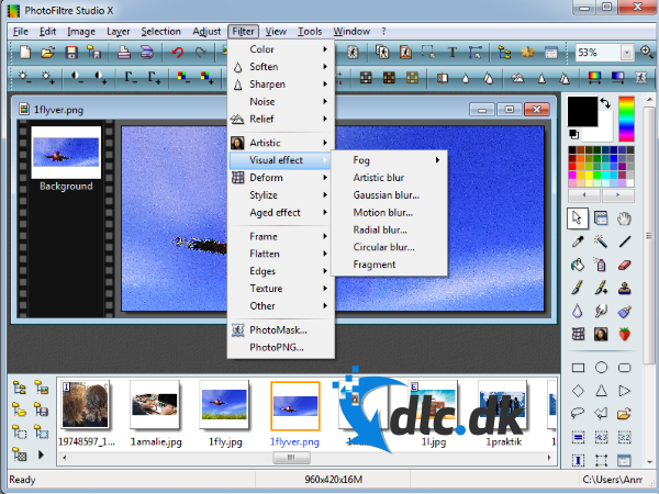 Screenshot af PhotoFiltre Studio (Deutsch)