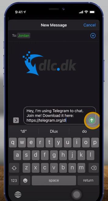 Screenshot af Telegram