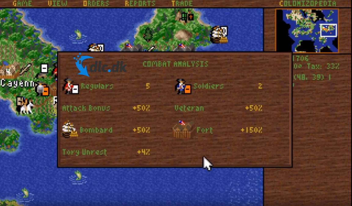 Screenshot af Colonization