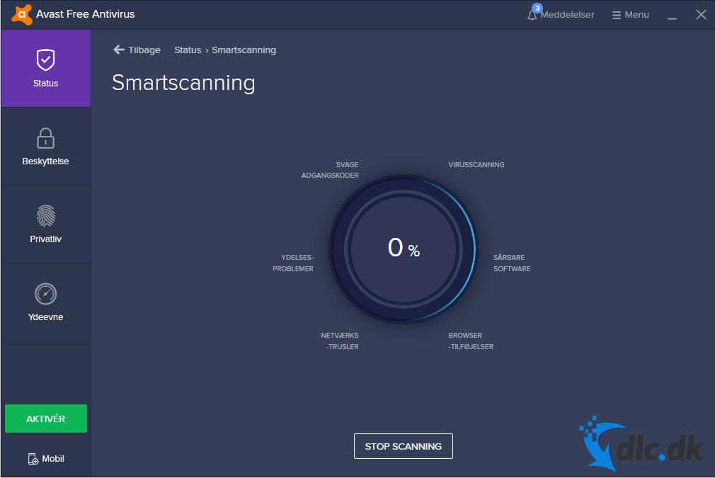Screenshot af avast! Free Antivirus