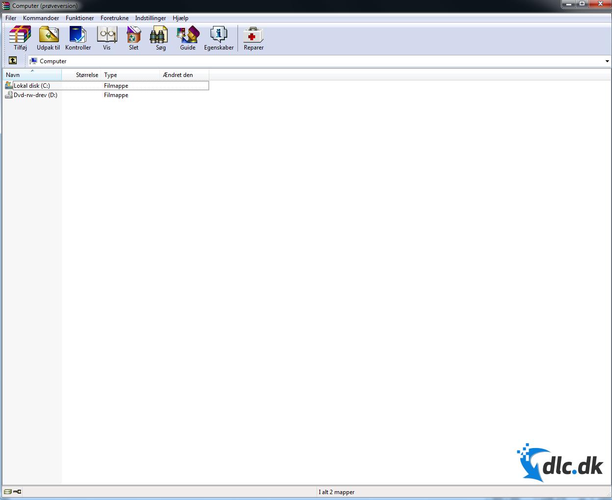 Screenshot af WinRAR (Deutsch)