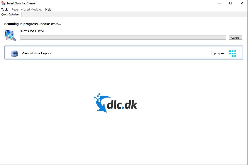 Screenshot af TweakNow RegCleaner