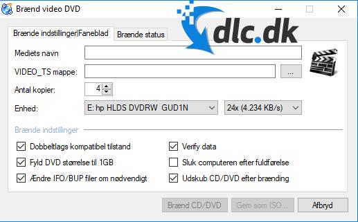 Screenshot af CDBurnerXP