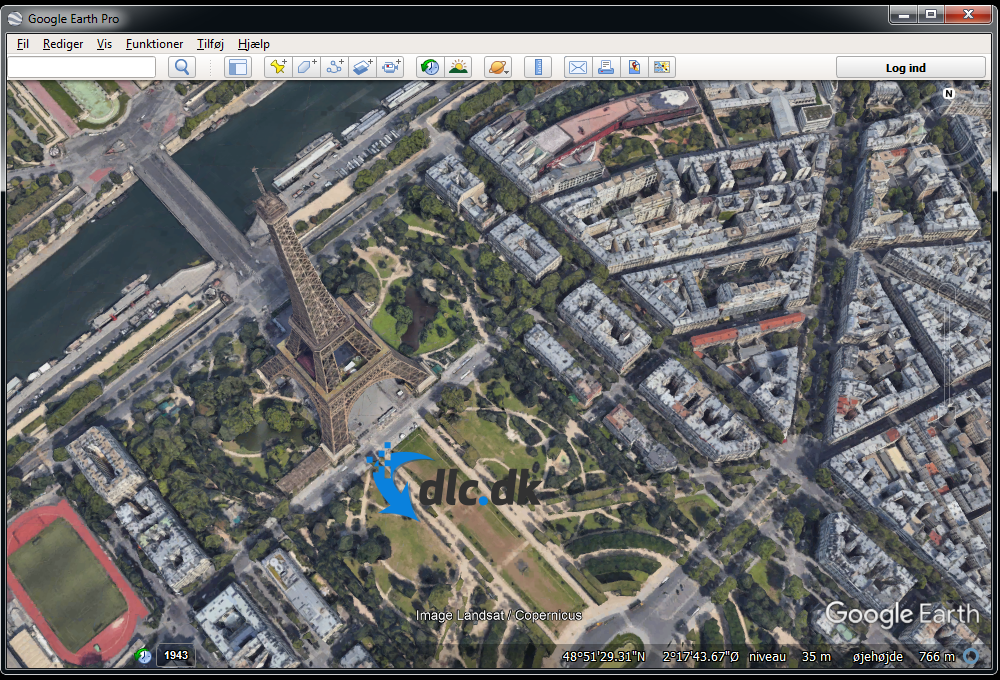 Screenshot af Google Earth