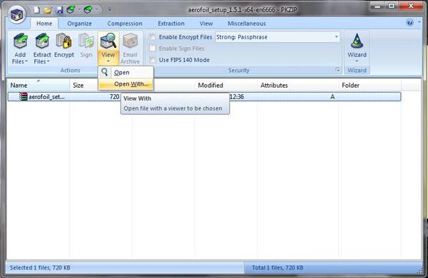 Screenshot af PKZIP