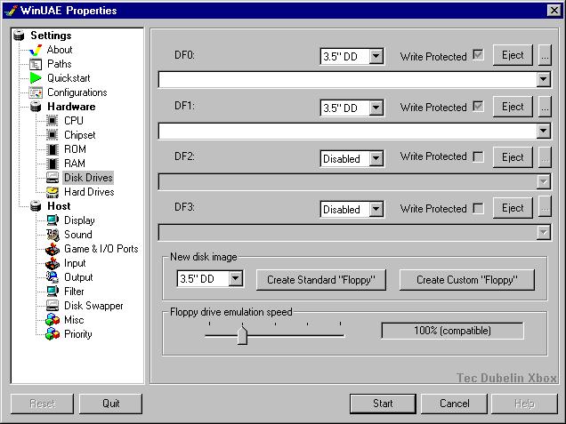 Screenshot af WinUAE