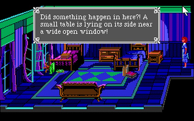 Screenshot af Laura Bow - The Colonel's Bequest