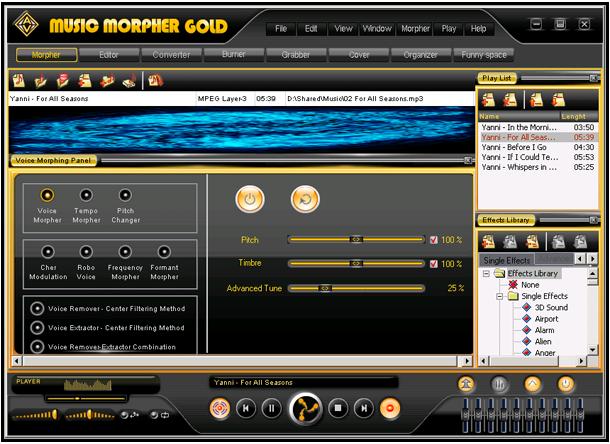 Screenshot af AV Music Morpher Gold