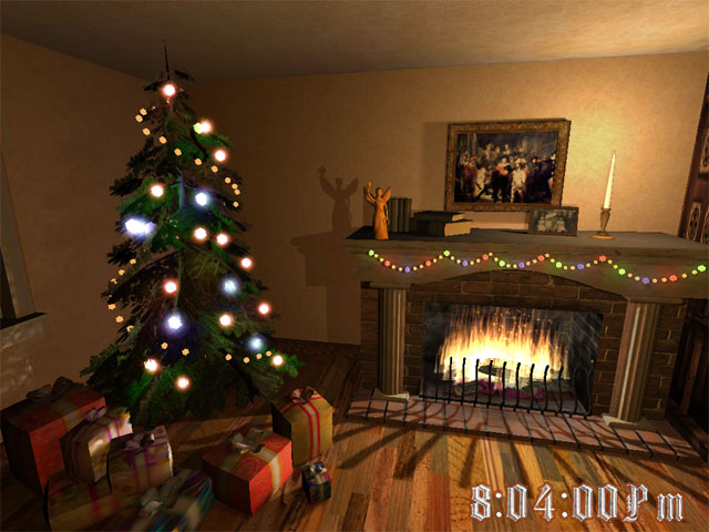 Screenshot af Christmas Fireplace 3D Screensaver