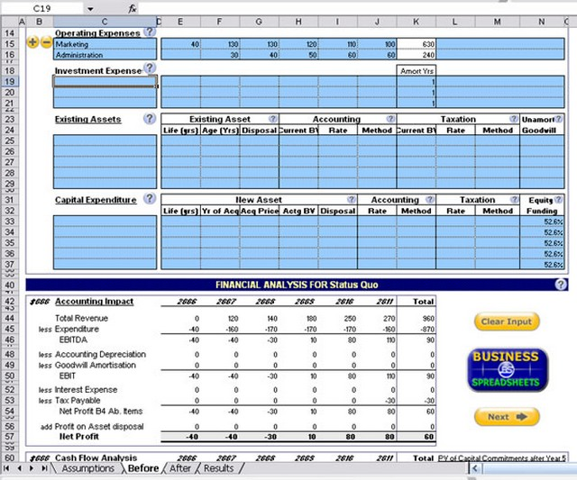 Screenshot af Investment and Business Valuation