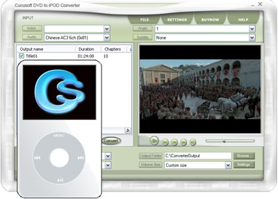 Screenshot af Cucusoft Zune Video Converter + DVD to Zune Suite