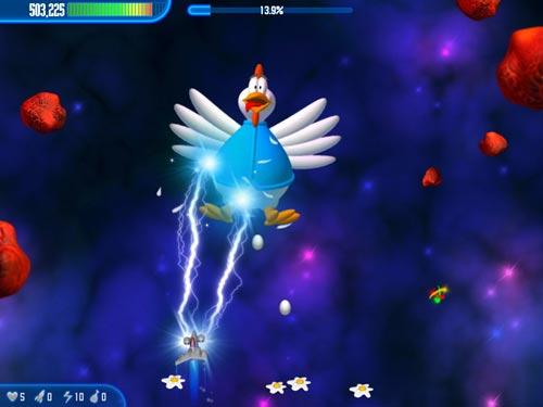 Screenshot af Chicken Invaders