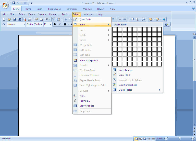 Screenshot af Classic Menu for Office 2007