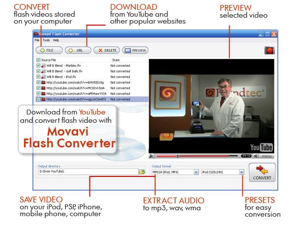 Screenshot af Movavi Flash Converter