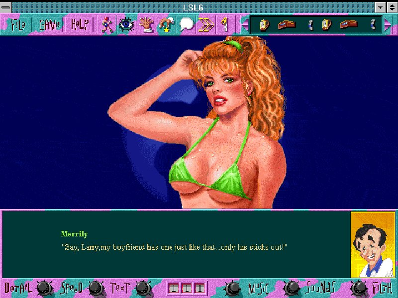 Screenshot af Leisure Suit Larry 6  - Shape Up or Slip Out!