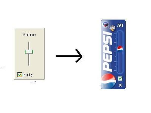 Screenshot af Pepsi Volume Controller